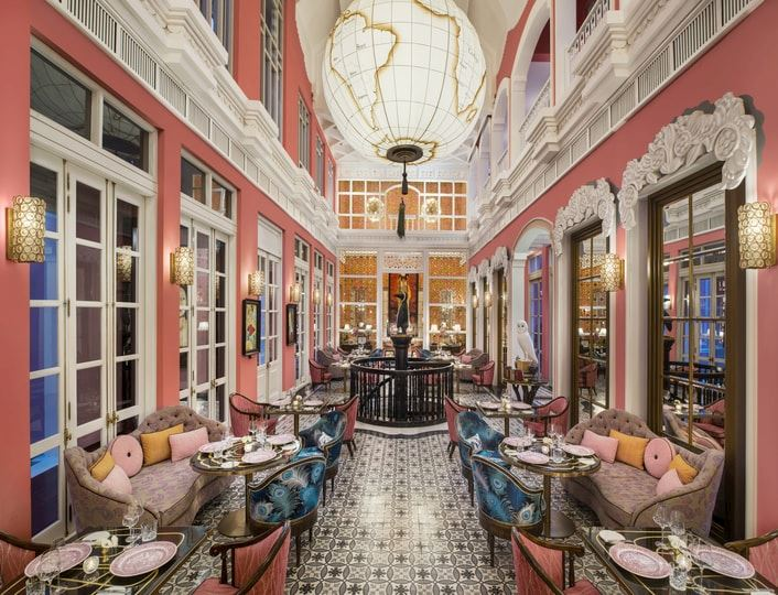 French dining experience in beachfront mansion